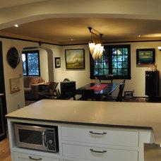 Transitional Kitchen by Ventana Construction LLC