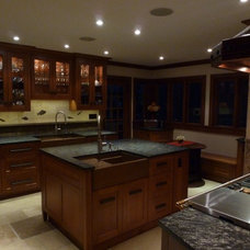 Contemporary Kitchen by Adria Marble and Granite