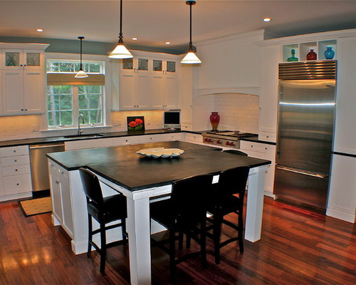 Kitchen Island And Dining Table Combination island table combination | houzz
