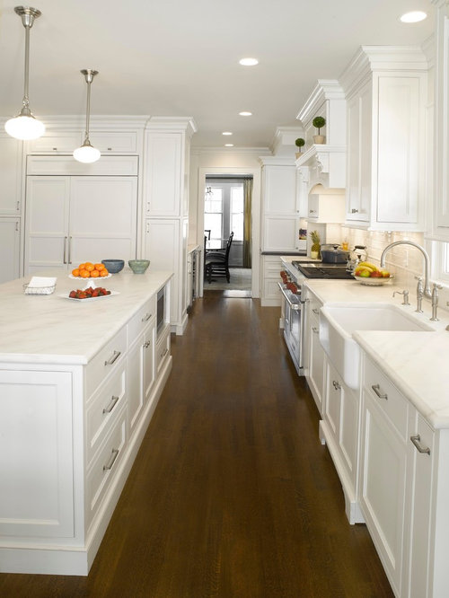 All White Kitchen Houzz