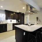 Lyra silestone sample contemporary kitchen countertops for Tempered glass countertop vs granite