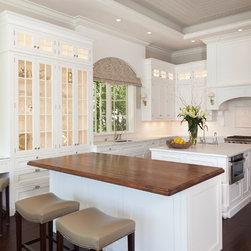Allikristé Coastal Custom Kitchen - Beautiful white traditional inset kitchen cabinetry by AlliKristé.