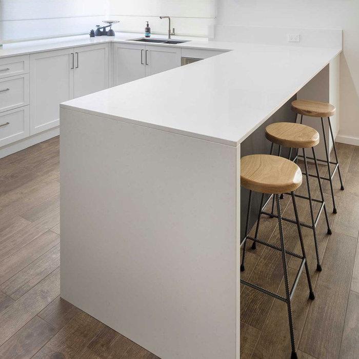 Clean White Kitchen Benchtop