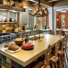 Rustic Kitchen by John Malick & Associates