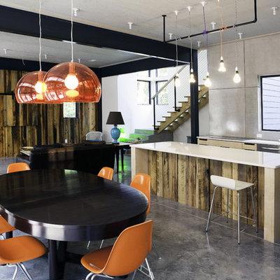 Minimalist open concept kitchen photo in Wilmington