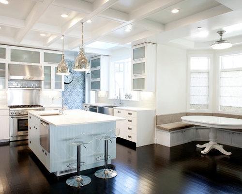 Images de décoration et idées déco de maisons kitchen banquette