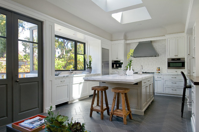 Transitional Kitchen by David Armour Architecture