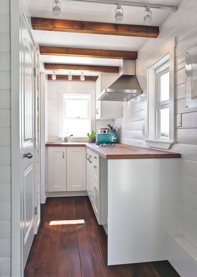 Beach Style Kitchen by MINT Tiny House Company