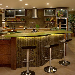 Amber Glass& Coconut  Bamboo Kitchen
