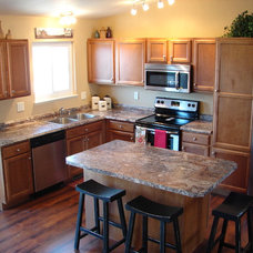 Transitional Kitchen by Castle Kitchens and Interiors