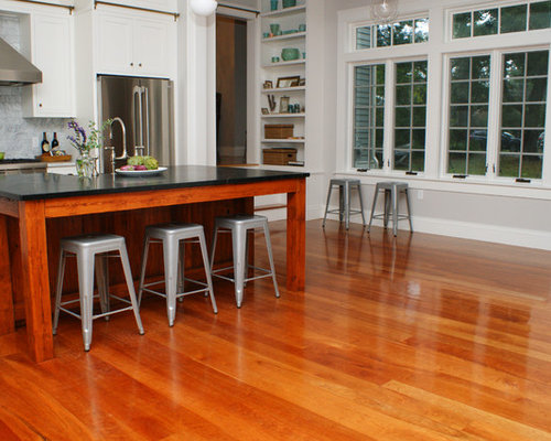 kitchen with cherry wood floors american cherry floors home design ideas pictures 8743