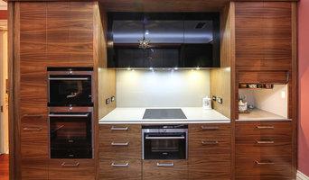 American Walnut & Metallic Kitchen