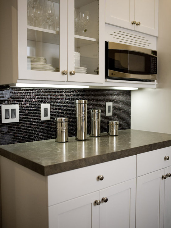 Built In Microwave Cabinet Houzz