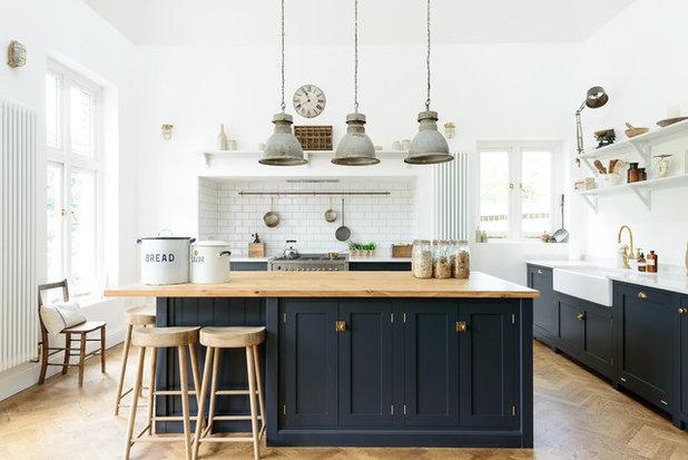 Transitional Kitchen by deVOL Kitchens