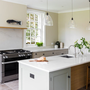 An Edwardian Home | Inframe painted kitchen