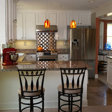 Transitional Kitchen by InsideOut Staging + Redesign