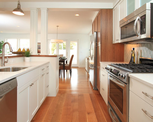 Open galley kitchen home design ideas pictures remodel for Open concept galley kitchen designs