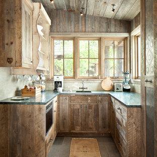 75 Beautiful Rustic Cement Tile Floor Kitchen Pictures ...