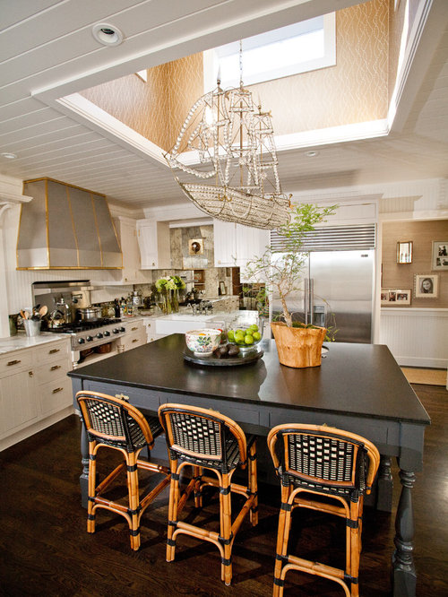 Pirate ship chandelier houzz eclectic kitchen photo in san diego with stainless steel appliances and a farmhouse sink mozeypictures Choice Image
