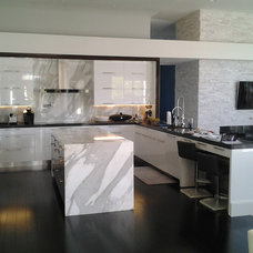 Modern Kitchen by Eurostar Marble and Granite Inc