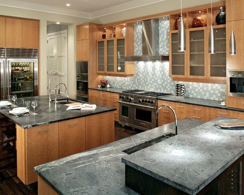 Anigre veneer home design ideas renovations photos for Anigre kitchen cabinets