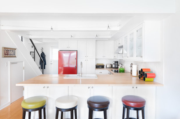 Transitional Kitchen by Bora&Co Construction