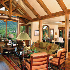 Traditional Kitchen by Mountain Lumber Company
