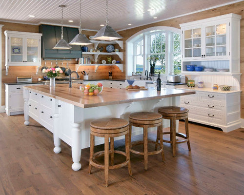 Example Of A Classic L Shaped Kitchen Design In Other With Shaker Cabinets,  White Part 57