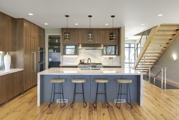 Contemporary Kitchen by Manomin Resawn Timbers