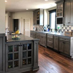 Antique Gray Farm Kitchen