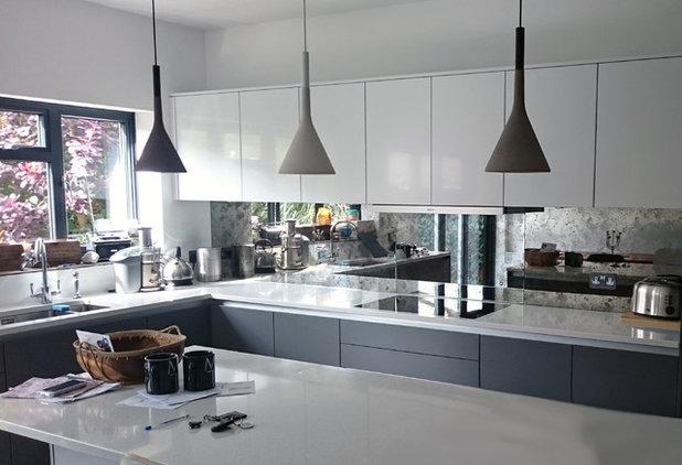 Modern Kitchen by Mirrorworks, The Antique Mirror Glass Company