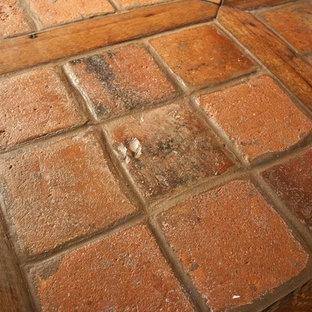 Antique Reclaimed French Terracotta Oak Floor Inlay
