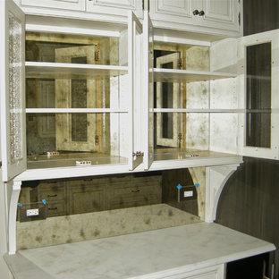 Mirror Kitchen Cabinet Houzz,Portable Kitchen Island With Pot Rack
