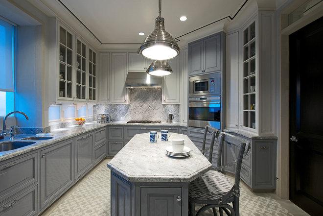 Transitional Kitchen by Architecture BRIO