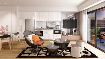 Apartment Kitchen/Living Interior