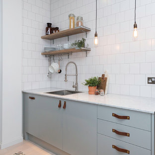 This is an example of a scandinavian kitchen in London.