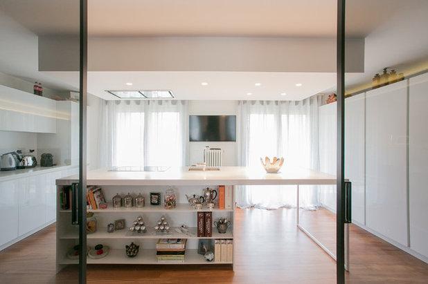 Come arredare soggiorno e cucina insieme idee per il - Arredare cucina soggiorno 20 mq ...