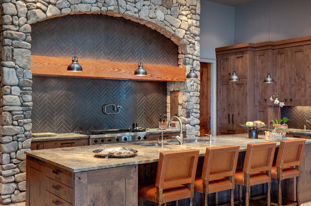 Rustic Kitchen by Moon Bros Inc