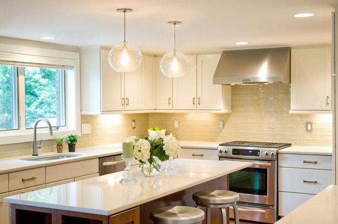 Transitional Kitchen by AK Interior Design