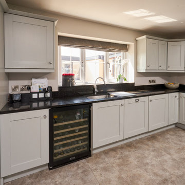 Approved Used Kitchen, Large Painted Shaker, Neptune Stools, Rangemaster Oven