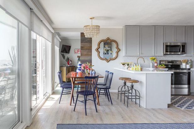 Beach Style Kitchen by Leslie Harris-Keane Interior Design
