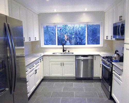 Houzz Grey Porcelain Tile Design Ideas Remodel Pictures