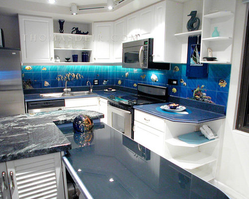 Tropical fish kitchen design ideas remodel pictures houzz - Tropical kitchen design ...