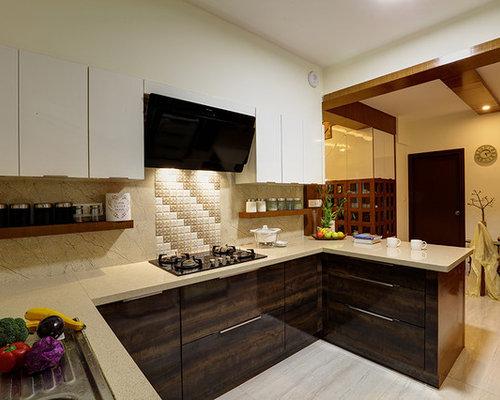 Beau Asian Kitchen Designs   Example Of An Asian Kitchen Design In Bengaluru