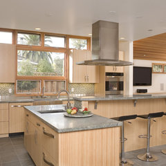 contemporary kitchen by square three design studios