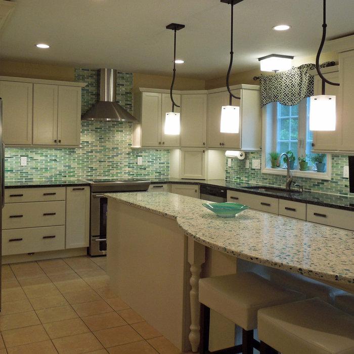 Sea Glass Bright White Kitchen