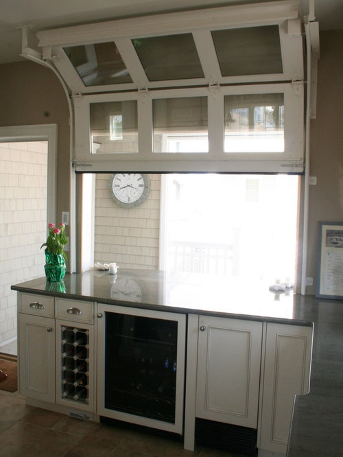 garage door window kitchen design ideas remodel pictures