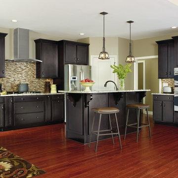 Aristokraft Cabinetry: Dark Grey Kitchen Cabinets