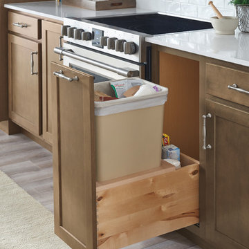 Aristokraft Cabinetry: Trash Bin Cabinet Pull-out