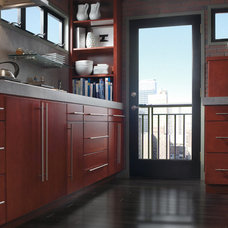 Contemporary Kitchen by Hager Cabinets Inc.